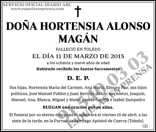 Hortensia Alonso Magán